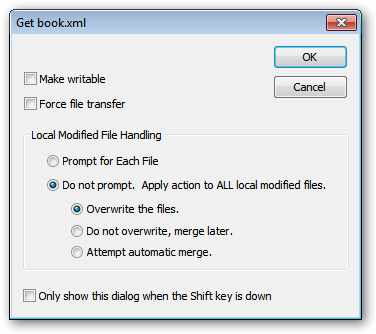 copytree overwrite a file